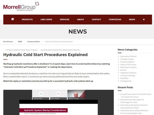 Hydraulic Cold Startup Procedures Webinar