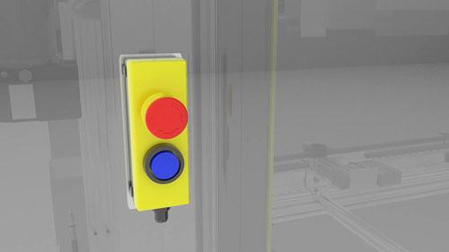 SICK emergency stop button