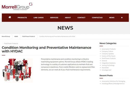 Condition Monitoring Hydac News Post