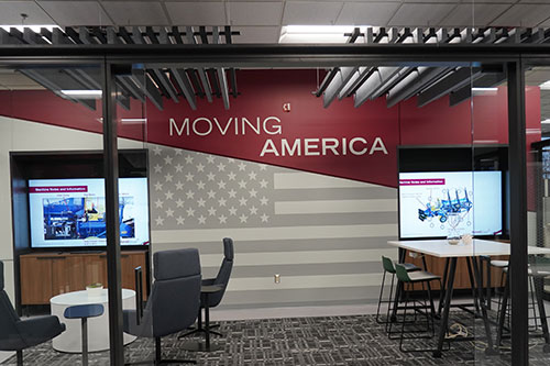 Motioneer Collaborative Workspace in Morrell Group Headquarters