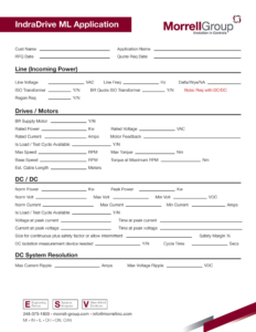 IndraDrive ML Application Form
